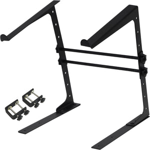 SoundLab Adjustable Desk Top Laptop Stand with Additional Fixing Clamps