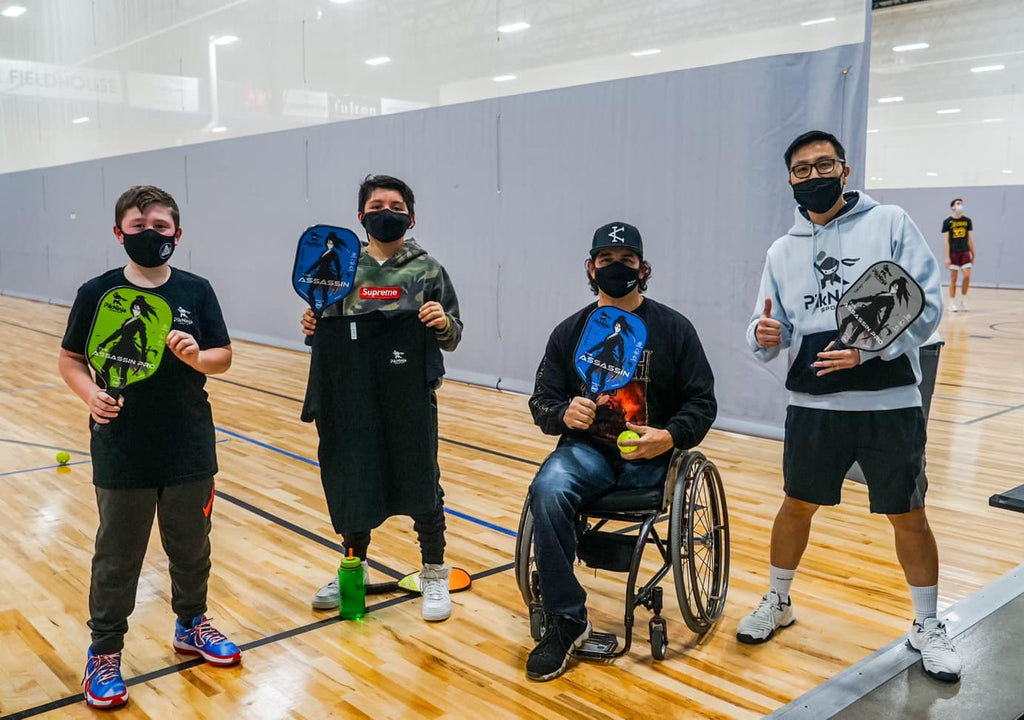PikNinja with kids and wheelchair