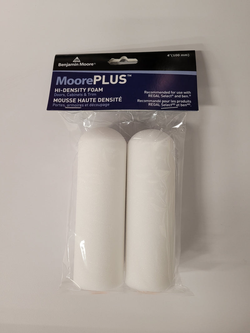 "MoorePLUS Hi-Density Foam 4"" Rollers 2 Pack"