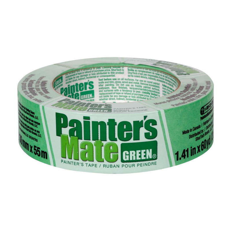 Painter's Mate Green Painter's Tape - Green, 1.41 in. x 60 yd.