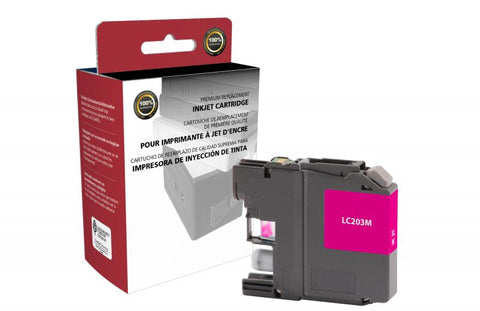 Clover Technologies Group, LLC Remanufactured High Yield Magenta Ink Cartridge for Brother LC203XL