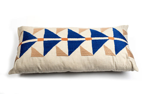 Rectangle Pukhtadozi Triangles Cushion