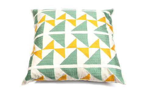 Pukhtadozi Triangles Square Cushion