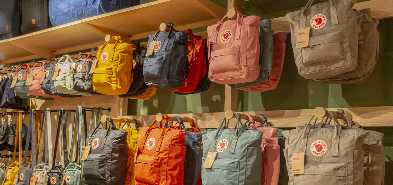 Fjallraven Manchester Store with Kanken Mini, Totepack and Sling