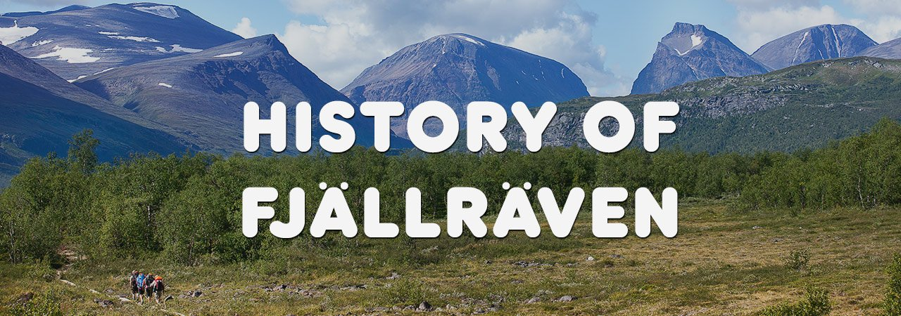 Walkers kitted out in Fjallraven gear, trekking through Scandinavian mountain range