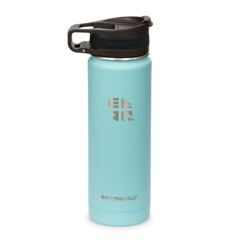 Earthwell 20oz / 59cl Roaster Loop Vacuum Bottle Aqua Blue