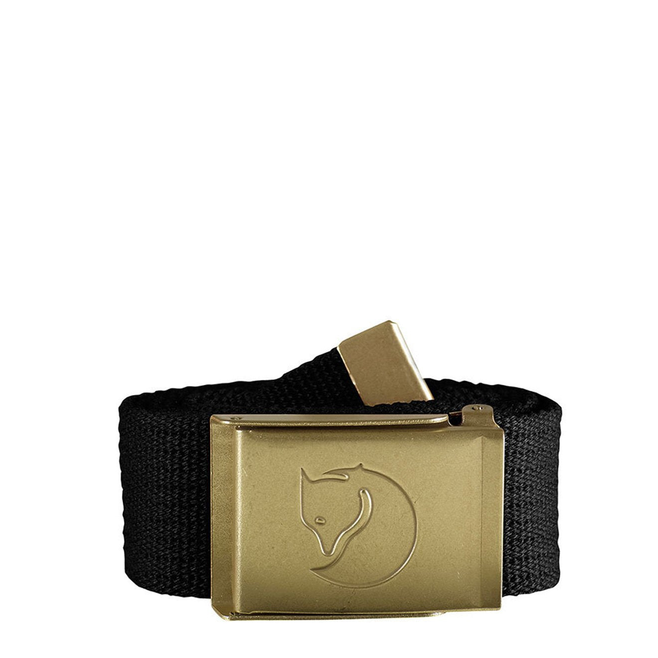 Fjallraven Canvas Brass Belt 4cm Black