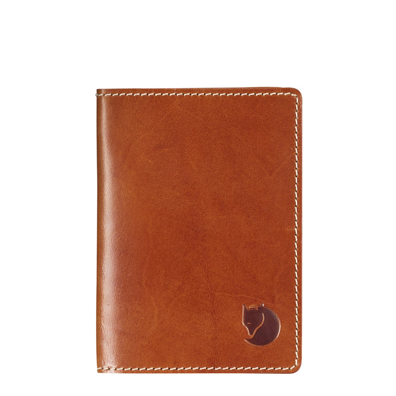 Fjallraven Leather Passport Cover Leather Cognac