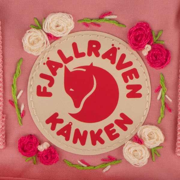 Fjallraven Kanken Sling Cross Body Bag Pink Embroidery