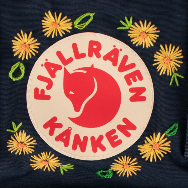 Fjallraven Kanken Totepack Mini Embroidery Navy
