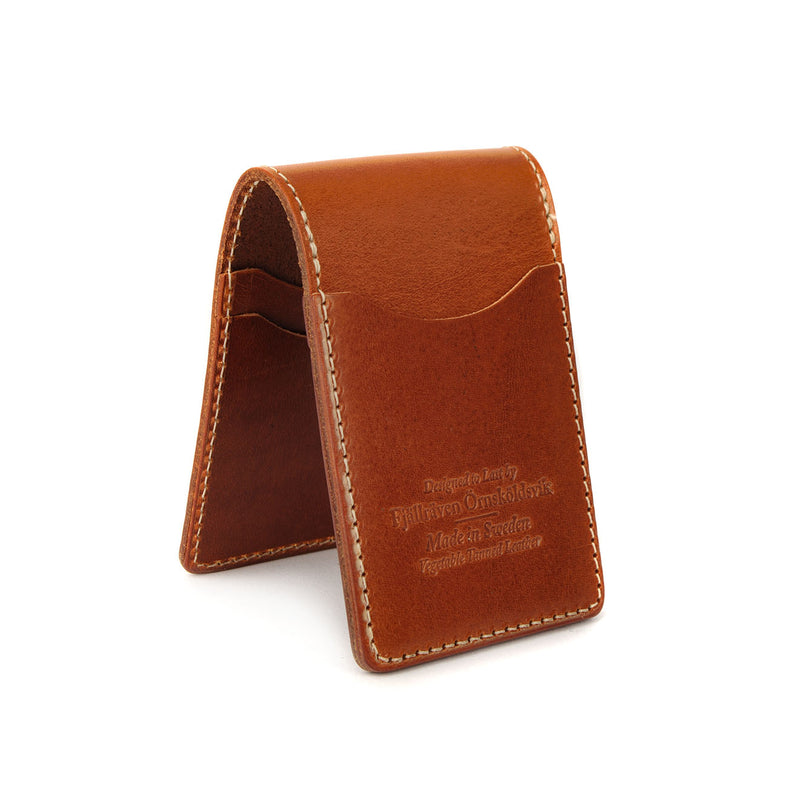 Fjallraven Ovik Card Holder Large Leather Cognac