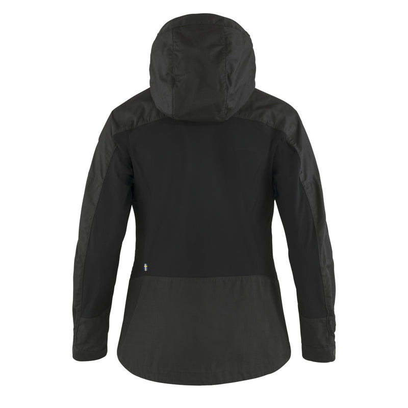 Fjallraven Womens Abisko Lite Trekking Jacket Dark Grey / Black