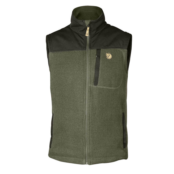 Fjallraven Buck Fleece Vest Laurel Green/Deep Forest