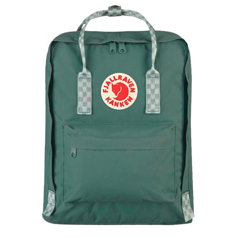 Fjallraven Kanken Classic Frost Green and Chess Pattern