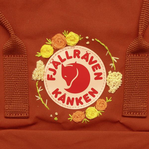 Fjallraven Kanken Classic Embroidered Backpack Autumn Leaf