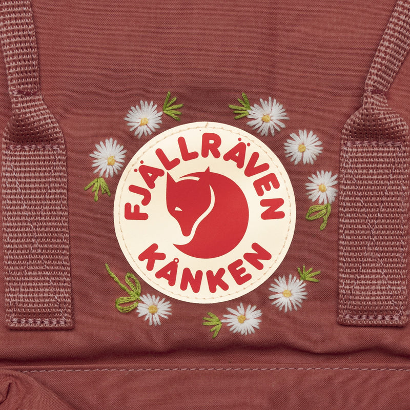 Fjallraven Kanken Classic Embroidered Backpack Dahlia