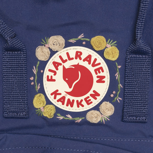 Fjallraven Kanken Classic Embroidered Backpack Deep Blue
