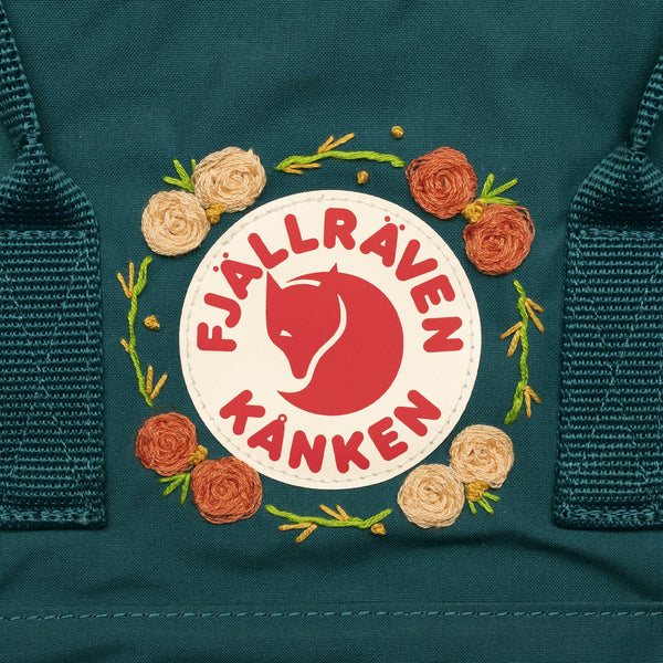 Fjallraven Kanken Classic Embroidered Backpack Glacier Green