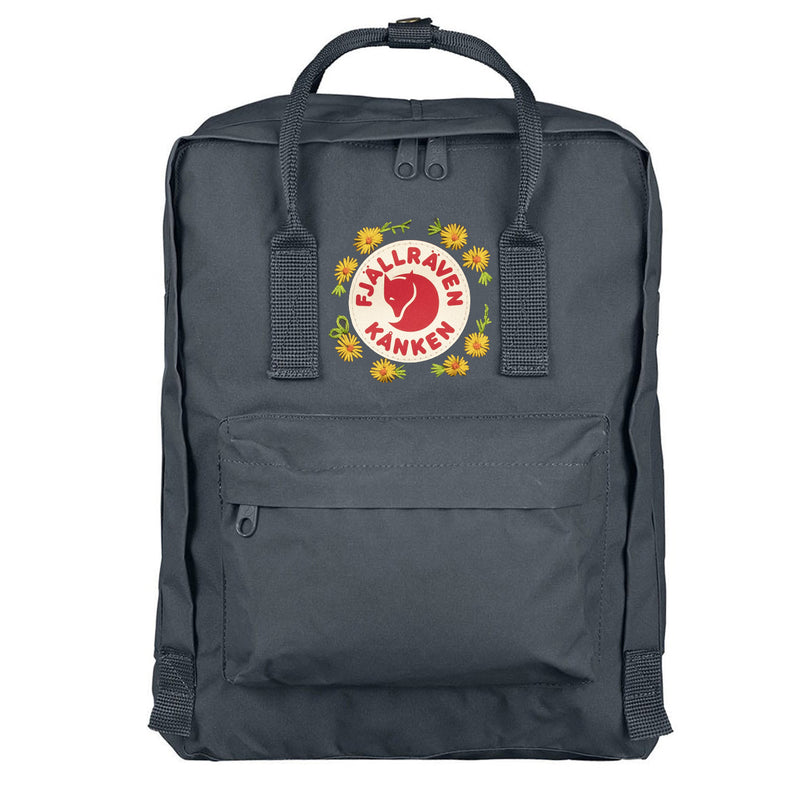 Fjallraven Kanken Classic Embroidered Backpack Graphite 1