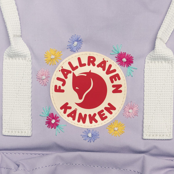 Fjallraven Kanken Classic Embroidered Backpack Pastel Lavender / Cool White