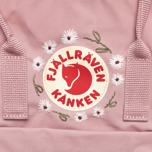 Fjallraven Kanken Classic Embroidered Backpack Pink
