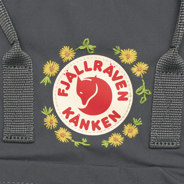 Fjallraven Kanken Classic Embroidered Backpack Super Grey