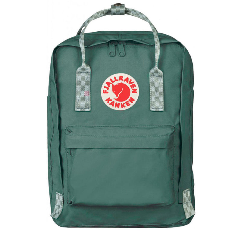 Fjallraven Kanken Laptop 13 Frost Green / Chess Pattern