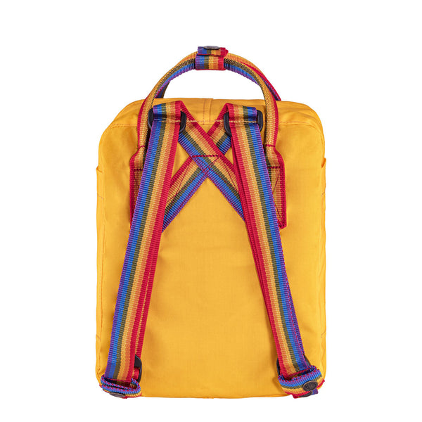 Fjallraven Kanken Rainbow Mini Backpack Warm Yellow / Rainbow Pattern
