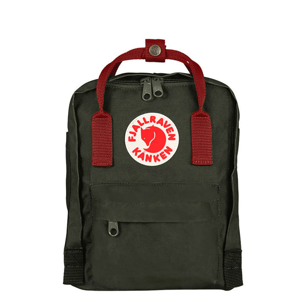 Fjallraven Kanken Mini Forest Green Ox Red