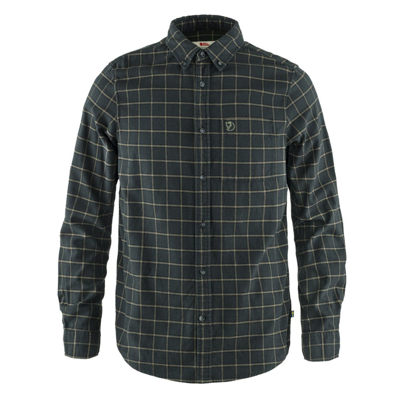 fjallraven-ovik-flannel-shirt-dark-grey-1