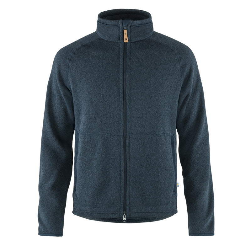 Fjallraven Ovik Fleece Zip Sweater Navy