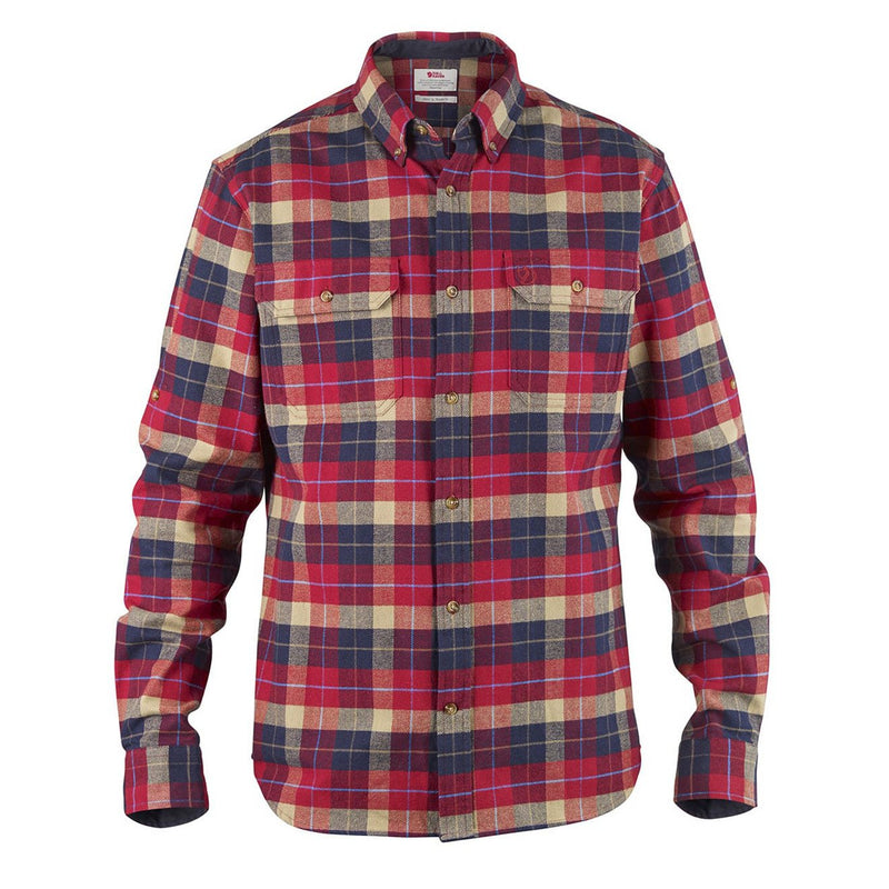 fjallraven-singi-heavy-flannel-shirt-deep-red-1