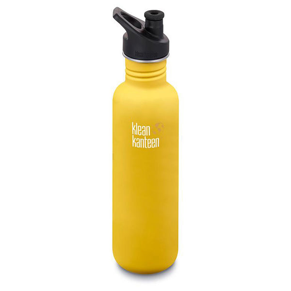 Klean Kanteen Classic Sports Cap 800ml Lemon Curry
