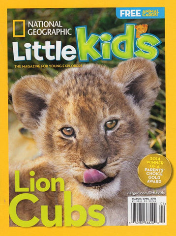National Geographic Little Kids Magazine - Lion cub by Suzi Eszterhas