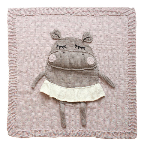 Hippo blanket by AppiStudio
