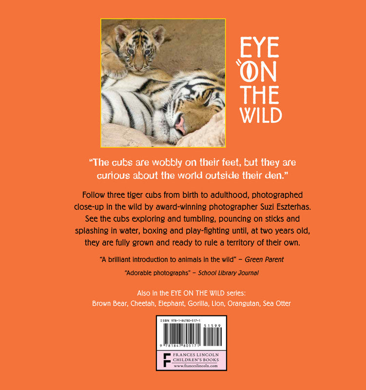Children S Book Back Cover : Children s book quot eye on the wild ⎯ tiger baby animal