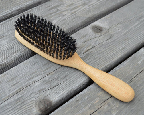 Hair Brush with Wild Boar Bristles