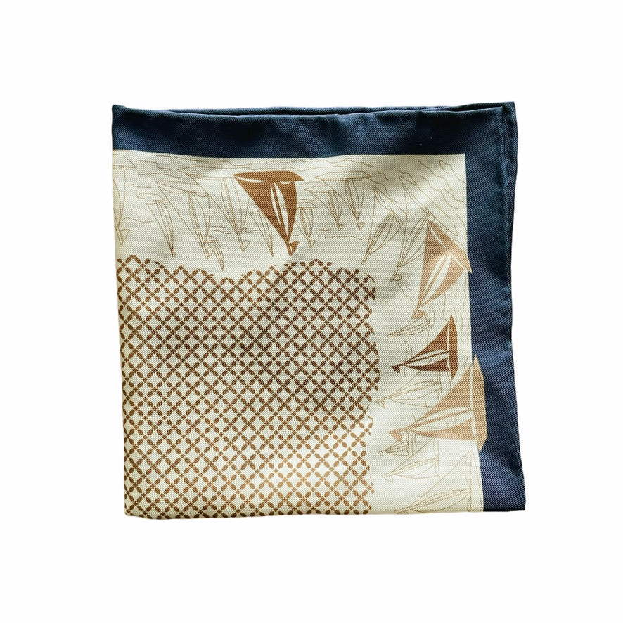 Pocket Square made of pure silk with a mediterranean print