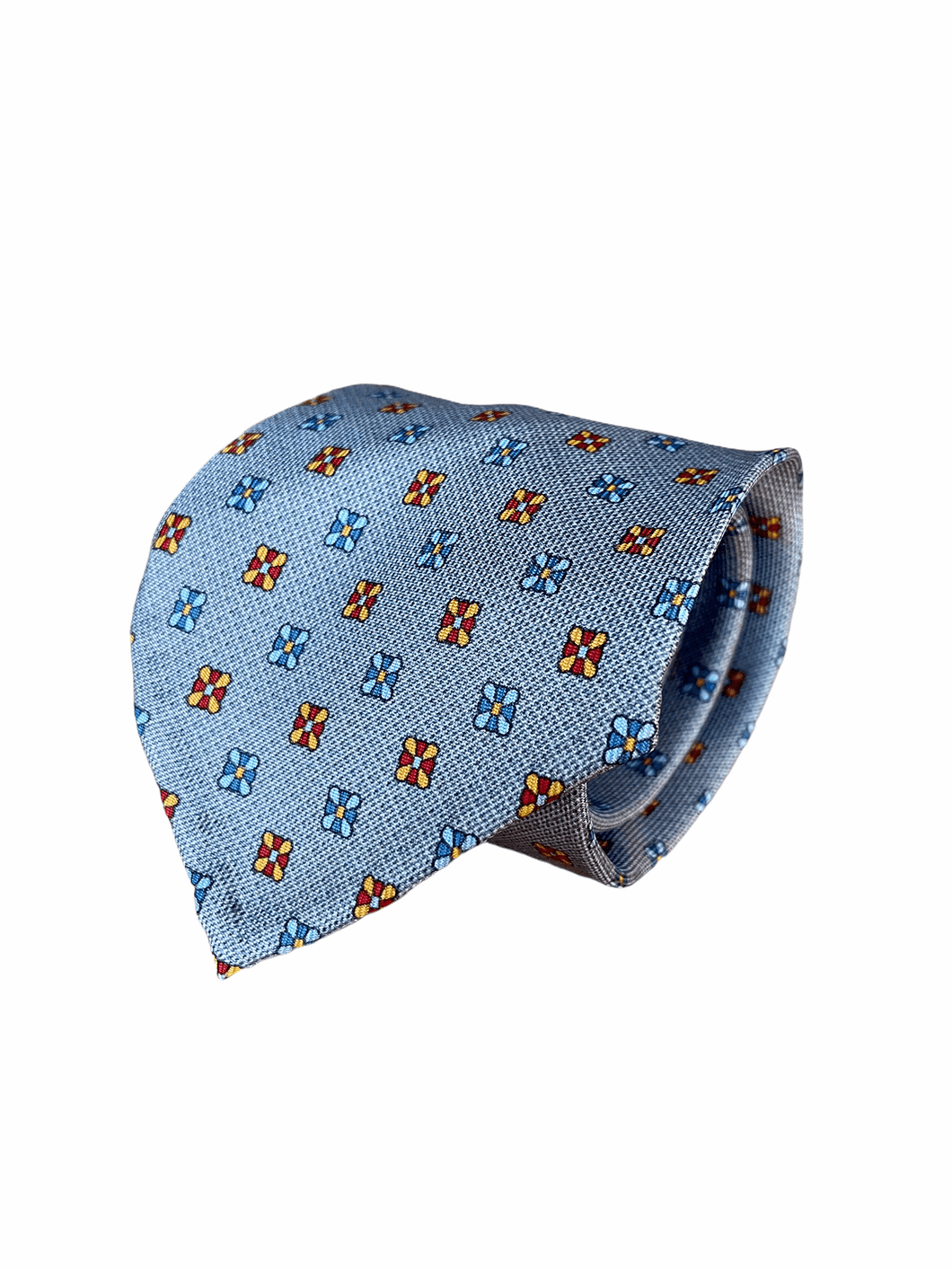Silk tie with a floral print
