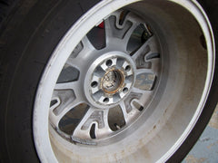 Dirt accumulation on the inside of a 17 inch alloy wheel