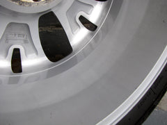 A clean inner barrel of a 17 inch alloy wheel after the dirt was removed with a Klaren Kleanmitt clay bar mitt - close up