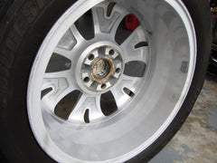 A clean inner barrel of a 17 inch alloy wheel after the dirt was removed with a Klaren Kleanmitt clay bar mitt