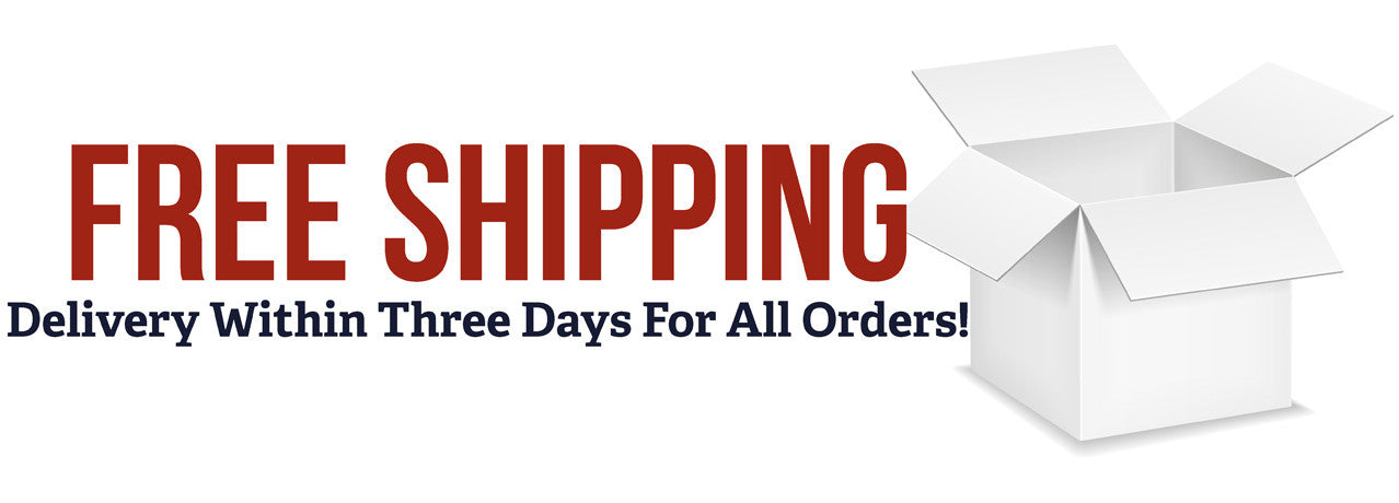 Free Shipping with Three Day Delivery