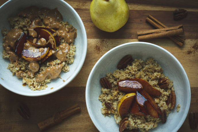 Maple Pear Steel Cut Oats