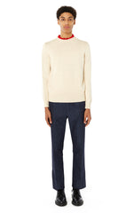 Textured Cotton Rollneck in Ivory