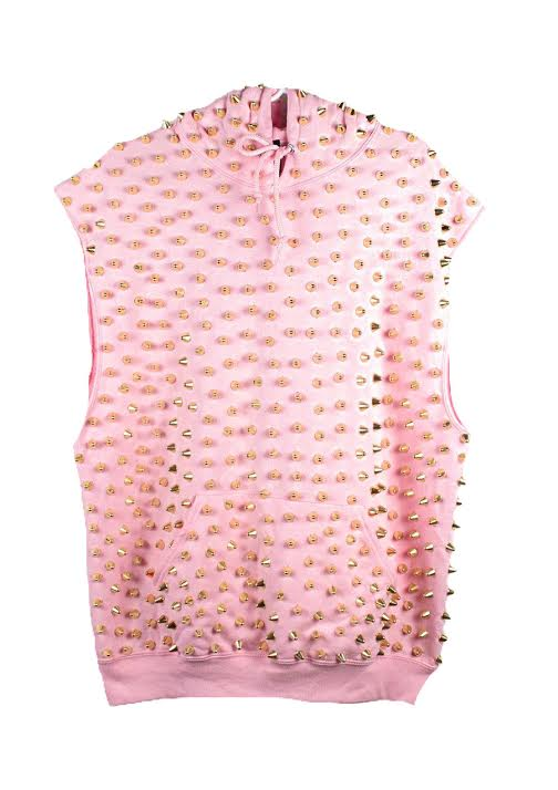 Studmuffin NYC Sleeveless Spike Hoodie - More Colors