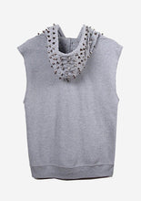 Load image into Gallery viewer, Studmuffin NYC Sleeveless Spike Hoodie - More Colors