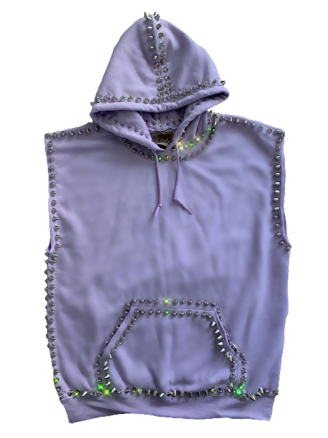Studmuffin NYC Sleeveless Spike Hoodie 2.0 Pullover - More Colors