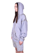 Load image into Gallery viewer, Studmuffin NYC Spike Hoodie 2.0 Zip Up- More Colors