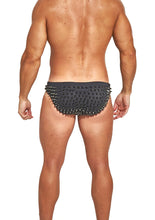 Load image into Gallery viewer, Studmuffin NYC x Hercules New York Spike Speedo -Black on Black